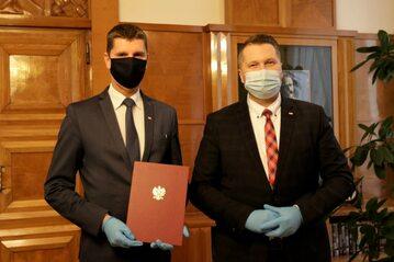 Dariusz Piontkowski i Przemysław Czarnek