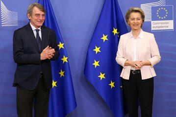 Davide Sassoli i Ursula von der Leyen