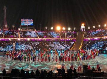 Defilada sportowców na zakończenie igrzysk