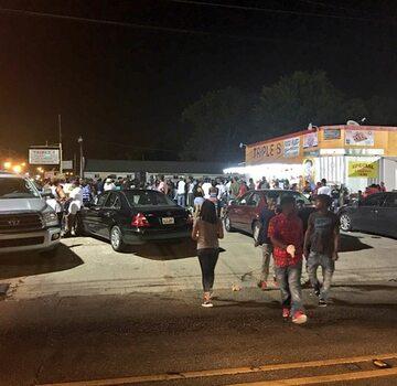 Demonstracja na ulicach Baton Rouge
