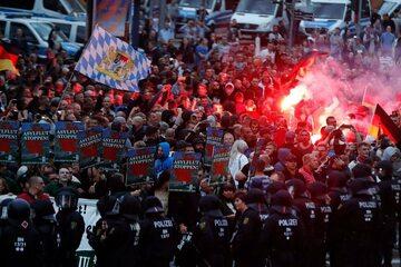 Demonstracja w Chemnitz
