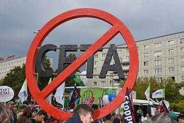 Demonstracje przeciwko CETA w Berlinie