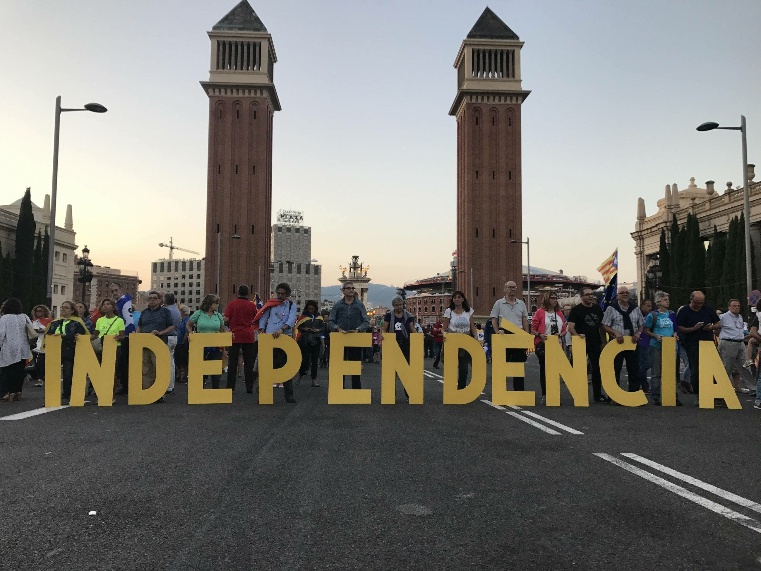 Demonstracje w Barcelonie