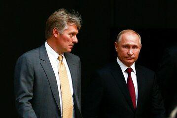 Dmitrij Pieskow i Władimir Putin