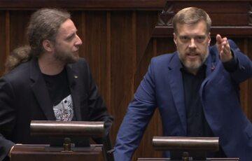 Dobromir Sośnierz i Adrian Zandberg