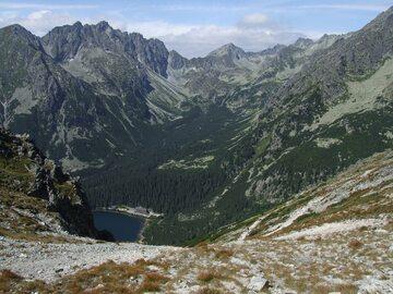 Dolina Mięguszowiecka i Popradzki Staw. Widok z Osterwy