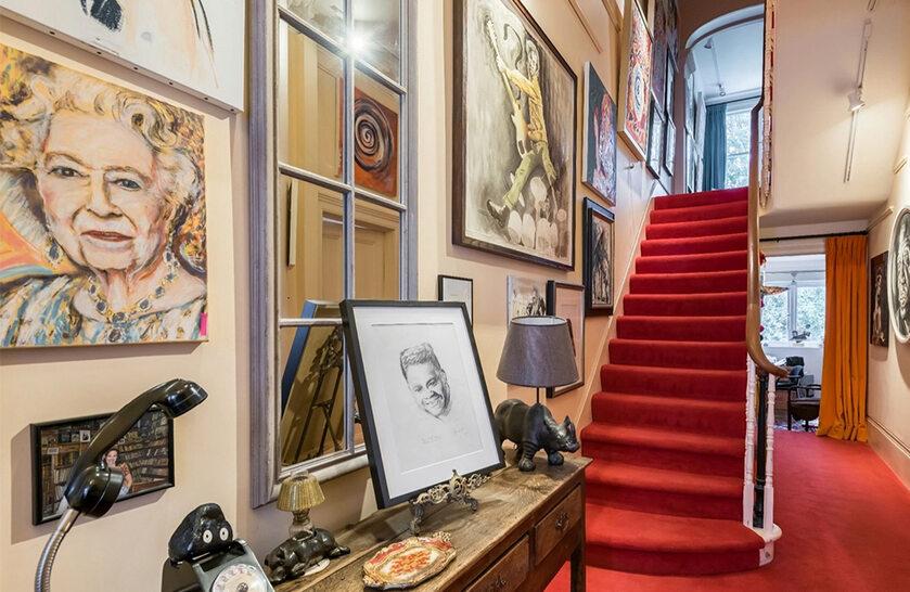 Dom Rona Wooda w Notting Hill w Londynie