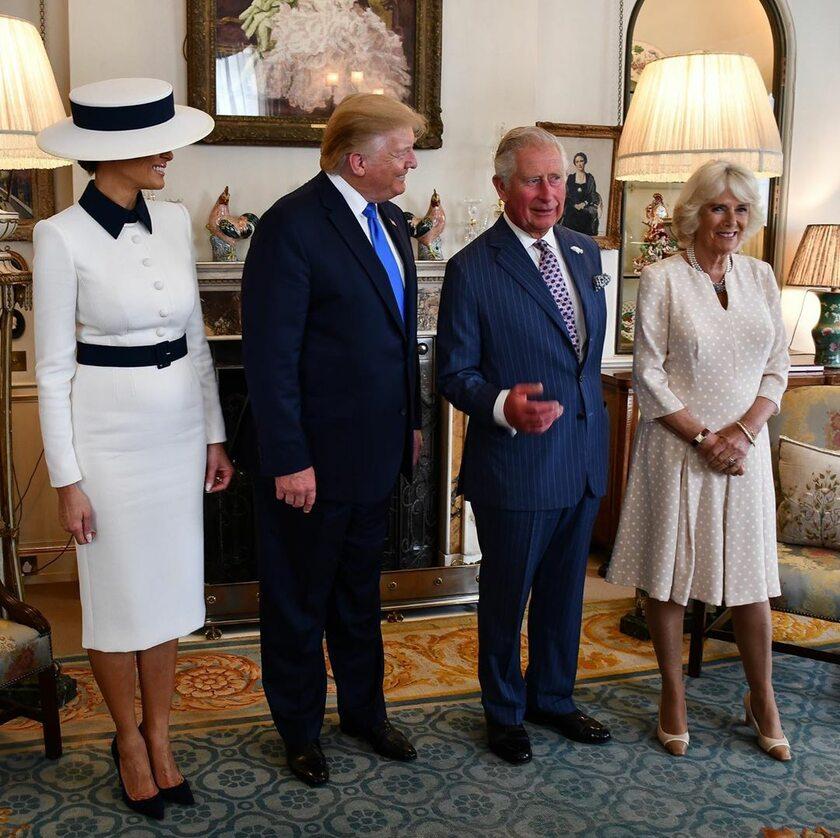 Donald i Melania Trump z członkami rodziny królewskiej