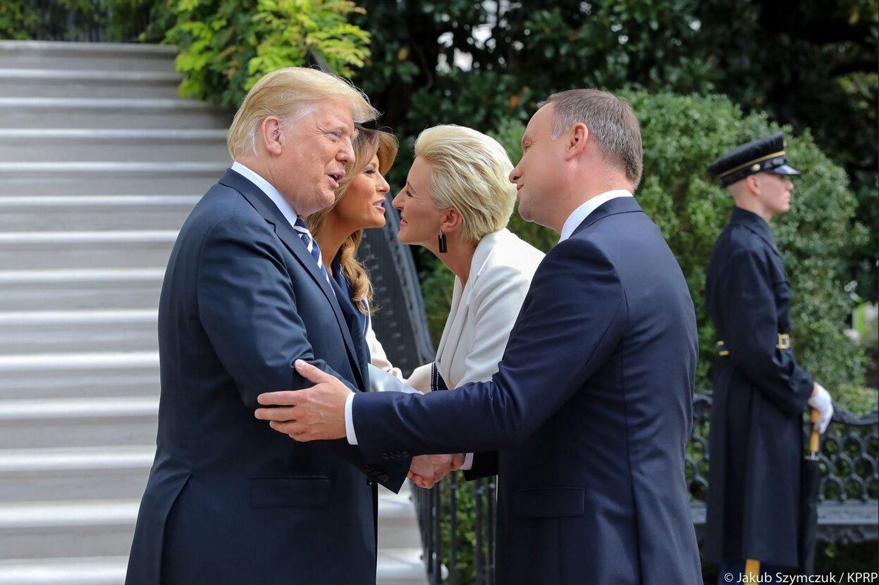 Donald Trump, Andrzej Duda, Agata Kornhauser-Duda, Melania Trump
