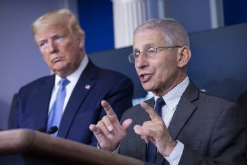 Donald Trump i dr Anthony Fauci