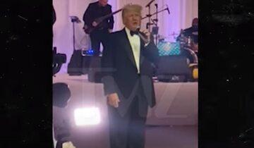 Donald Trump na weselu
