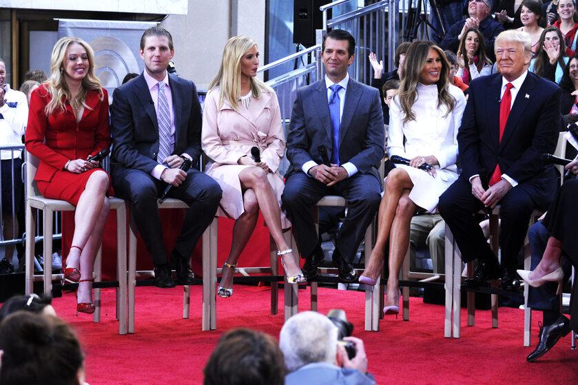 Donald Trump z rodziną