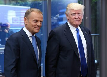 Donald Tusk i Donald Trump