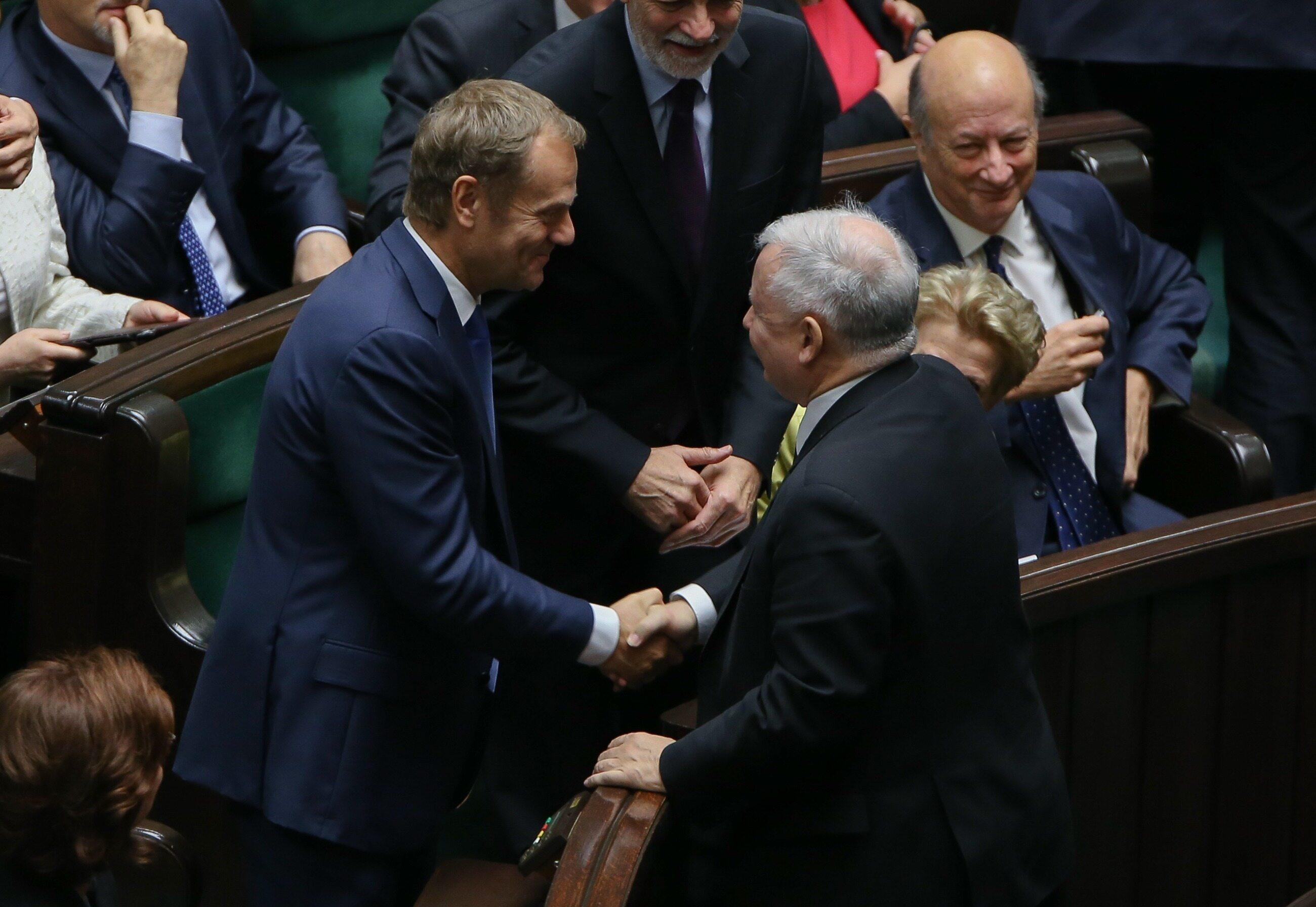 Sondaż wiarygodności polityków. Jak Polacy oceniają Tuska i Kaczyńskiego?
