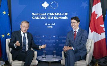 Donald Tusk i Justin Trudeau