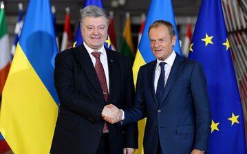 Donald Tusk i Petro Poroszenko