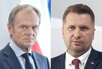 Donald Tusk i Przemysław Czarnek