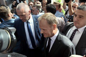 Donald Tusk przed przesłuchaniem w Prokuraturze Krajowej