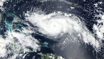 Dorian na zdjęciu NASA, jeszcze jako huragan kategorii 4