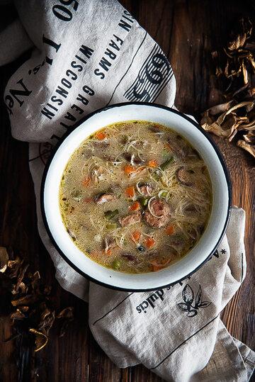 Dość nietypowa zupa grzybowa