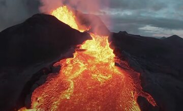 Dron wpadł do wulkanu na Islandii
