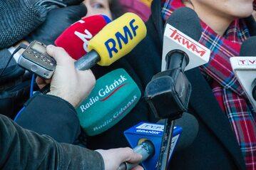 Dziennikarze podczas pracy, zdjęcie ilustracyjne