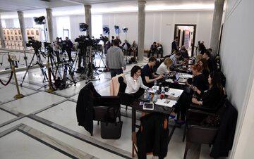 Dziennikarze w Sejmie