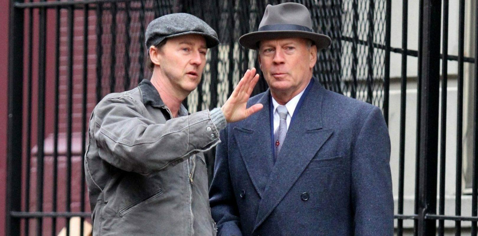 "Edward Norton, Bruce Willis w filmie ""Osierocony Brooklyn"""