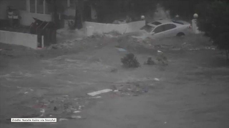 Efekty przejścia tajfunu Mangkhut