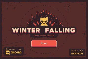 Ekran startowy gry Winter Falling
