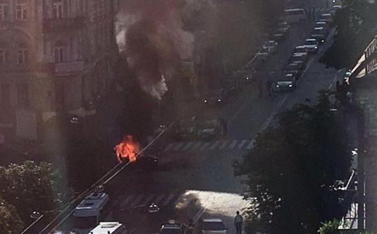 Eksplozja auta w Kijowie