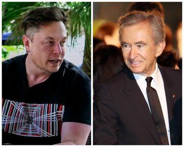 Elon Musk i Bernard Arnault