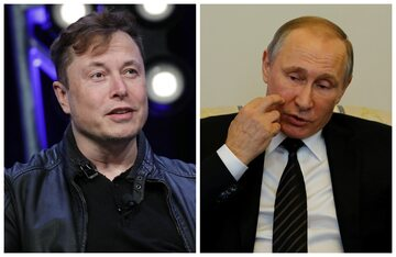 Elon Musk i Władimir Putin