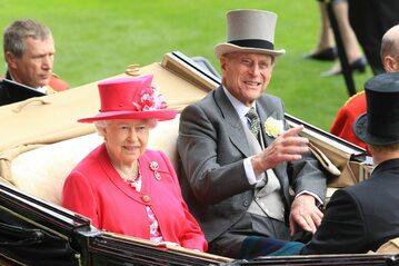 Elżbieta II i książę Filip w 2015 roku w Ascot