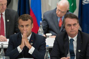Emannuel Macron i Jair Bolsonaro