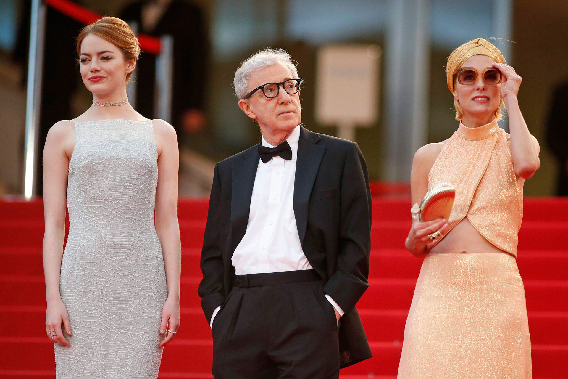 Emma Stone, Woody Allen, Parker Posey w Cannes