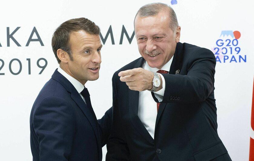 Emmanuel Macron i Recep Tayyip Erdogan