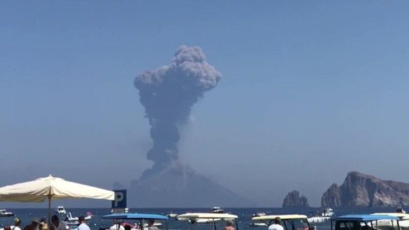 Erupcja wulkanu Stromboli