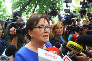 Ewa Kopacz przed przesłuchaniem w prokuraturze