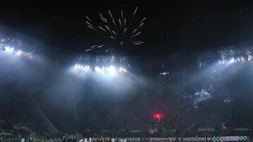 Fajerwerki na stadionie Śląska