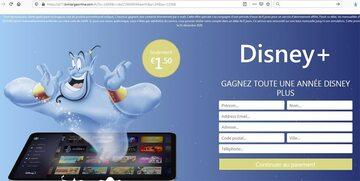 fałszywa witryna Disneya