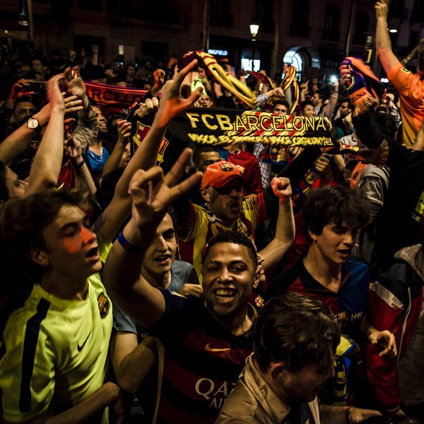 Fani hiszpańskiego klubu FC Barcelona