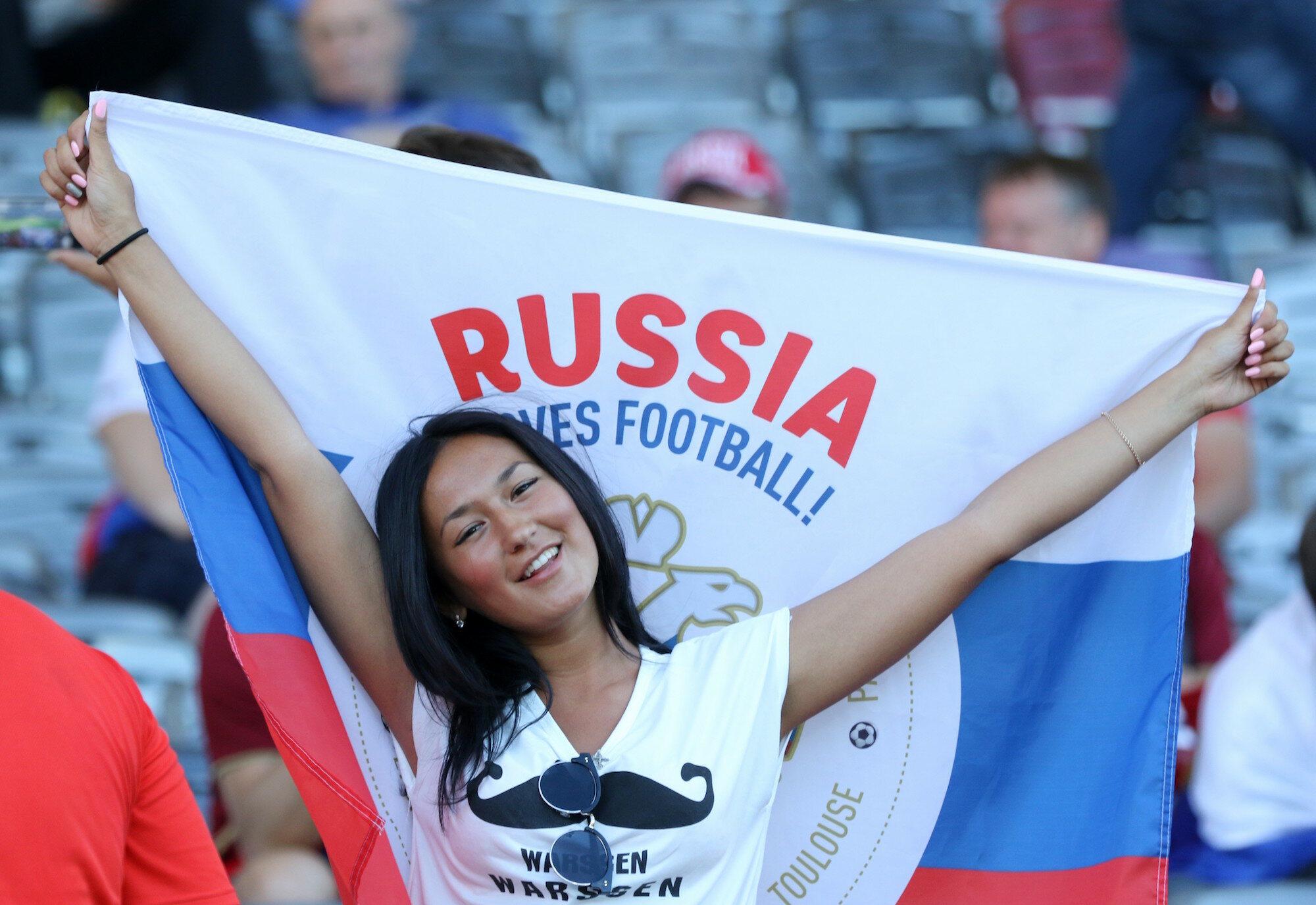 Fanka reprezentacji Rosji