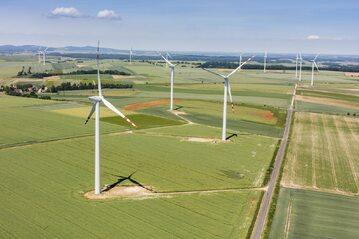 Farmy wiatraków w Lasowicach