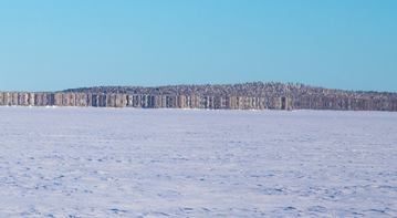 Fatamorgana na jeziorze Inari