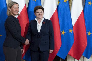 Federica Mogherini, Beata Szydło