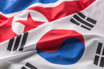 Flagi Korei Północnej i Korei Południowej