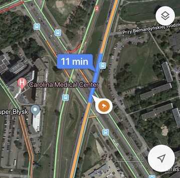 Fotoradar w aplikacji Google Maps