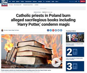 Fox News o paleniu książek w Polsce