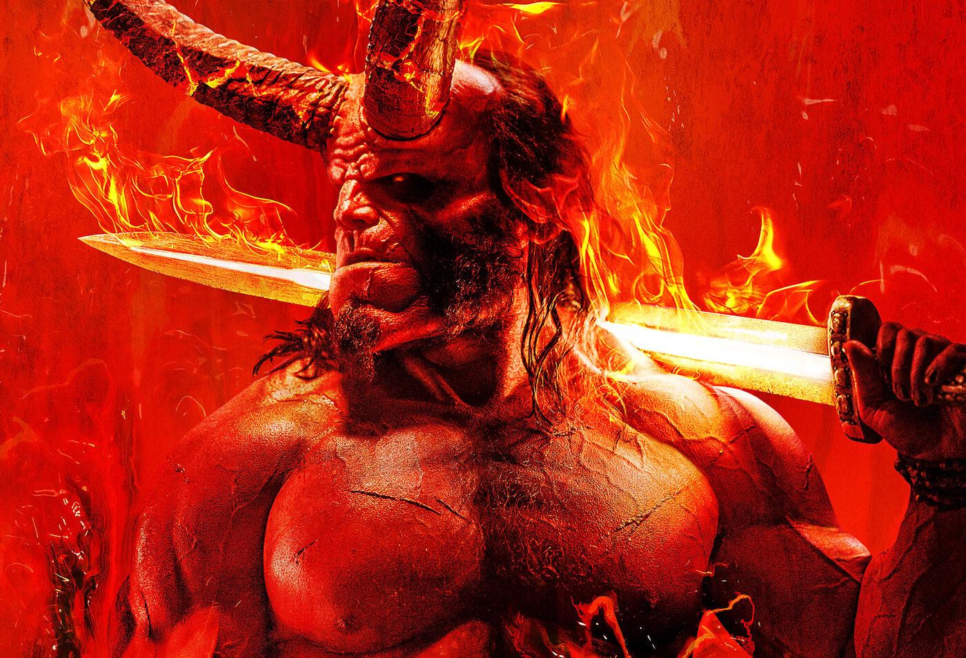 """Fragment plakatu promującego najnowszego """"Hellboya"""""""